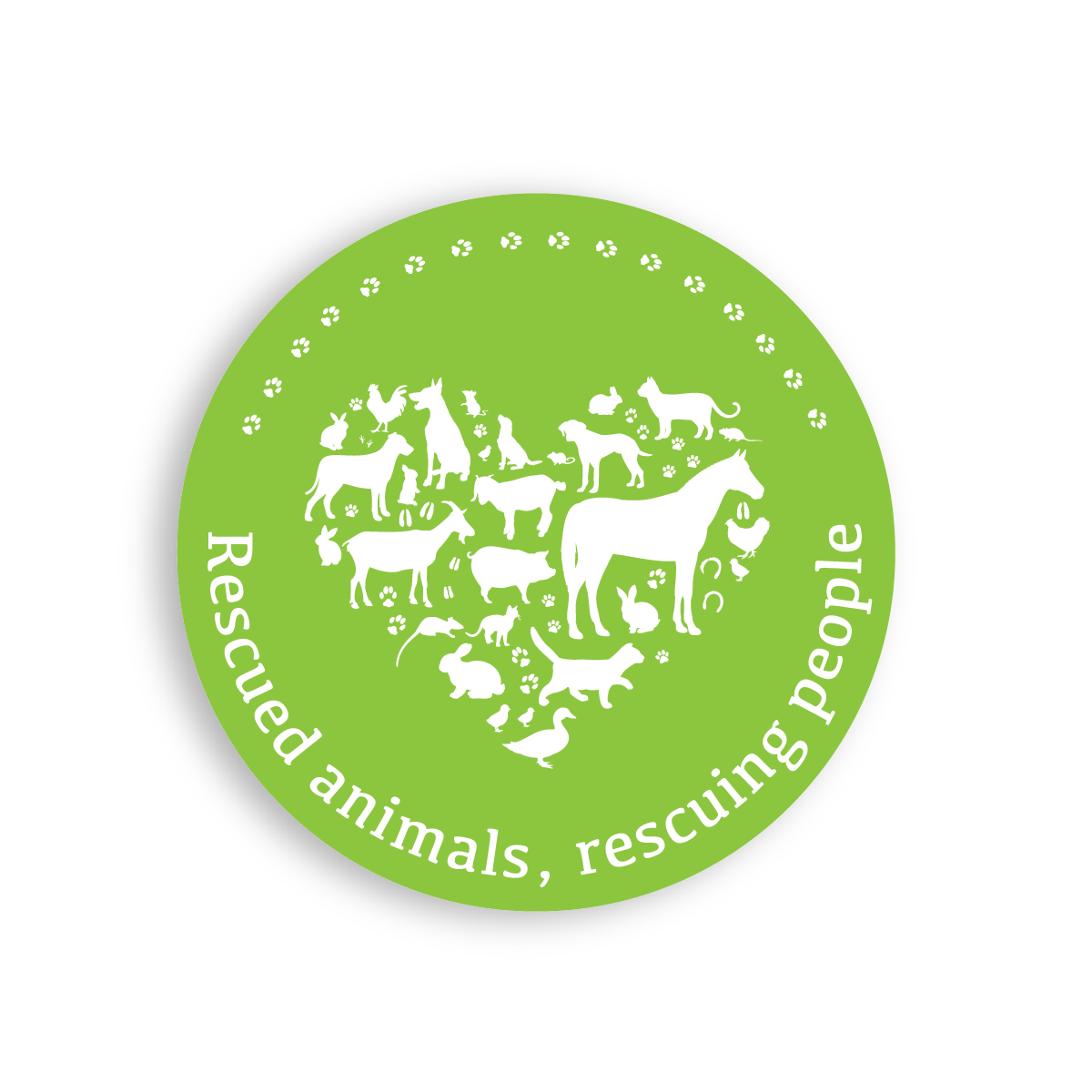 Animal Assisted Cause Icon BrightGreen wShadow
